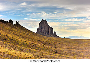 Shiprock - New Mexico - Shiprock is a monadnock rising...