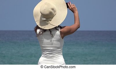 Woman Taking Photo On Summer Day
