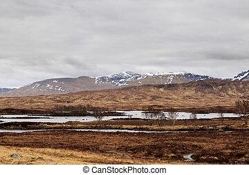 Rannoch Moor landscape, The Scottish Highlands, UK