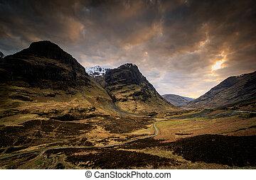 Glencoe sunset , Scotland UK.