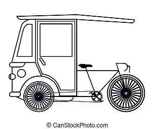 rickshaw india isolated icon design, vector illustration...