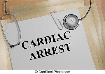 Cardiac Arrest - medical concept - 3D illustration of...