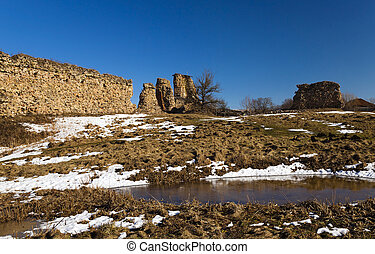 ruins of Krevo. Belarus - the ruins of the ancient ramparts...