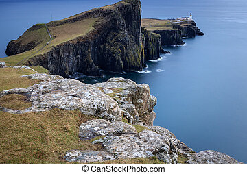 Neist Point Lighthouse Isle of Skye, Scotland, UK