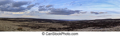Panoramic moors - Panoramic View of the moors in West...