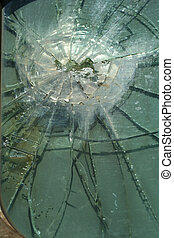 Shattered glass - A Shattered glass window