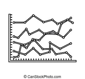 statistical growth isolated icon design, vector illustration...