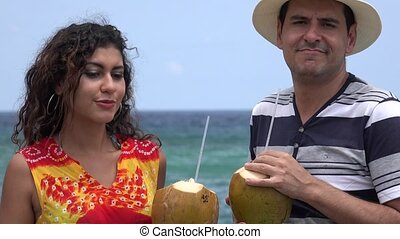 People Having Fun On Tropical Vacation