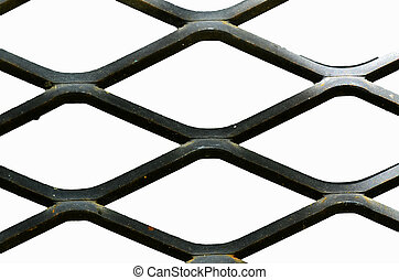 abstract metal grid pattern