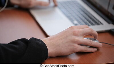 Graduate student looking for information on Internet using a...