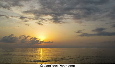 Sunset Over the Sea Time Lapse - Sunset over the sea with...