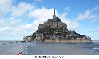 MONT SAINT-MICHEL, FRANCE - MARCH 27, 2016: Mont...