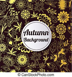 autumn golden background - Vector autumn background golden...
