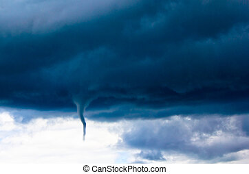 Tornado - Photograph of a distant incoming tornado