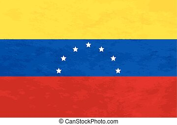 True proportions Venezuela flag with texture - True...