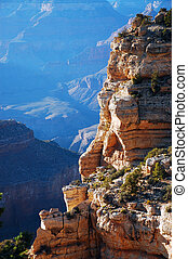 Grand Canyon - Cliff in the Grand Canyon in Arizona