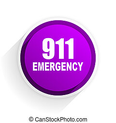 number emergency 911 flat icon