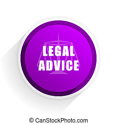 legal advice flat icon