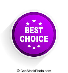 best choice flat icon