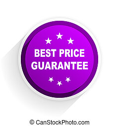 best price guarantee flat icon