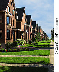 a row of own homes