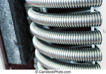 Heat exchanger device - Closeup view of heat exchanger...