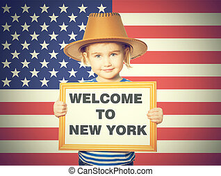 Text welcome to New York.