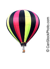Hot air balloon - Colorful hot air balloon isolated on white...
