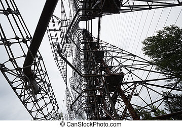 duga radar in Pripyat, Chernobyl - soviet duga radar in...