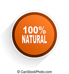natural flat icon with shadow on white background, orange...
