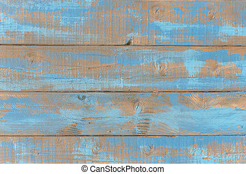 Old weathered blue wooden shelves as background picture