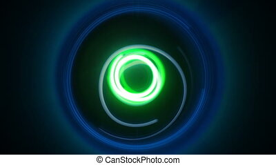 Dynamic circles light painting seamless loop