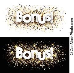 Bonus paper banner - Bonus paper banner with shining sand,...