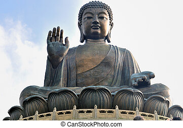 Buddha - Tian Tan Giant Buddha overlooking with love from...