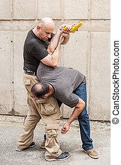Gun Disarm. Self defense techniques against a gun point. -...