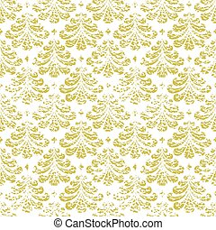 Vector vintage damask seamless pattern element.