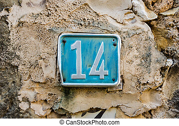 Number 14 - House number fourteen 14