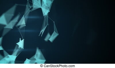Sci-fi network shape. Abstract loopable background - Sci-fi...