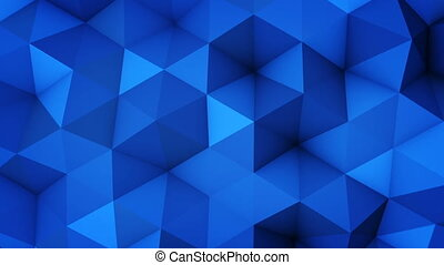 Blue polygonal geometric surface vibrating seamless loop -...