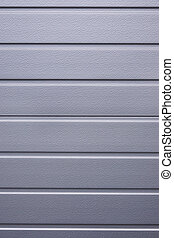 metallic cladding background - silver gray metallic shutter...