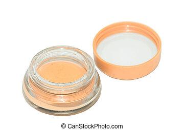 Foundation cream isolated on white