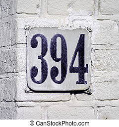 Number 394 - House number three hundred and ninety four 394...