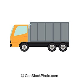 truck container transportation delivery icon. Vector graphic