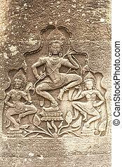 Beautiful Aspara at Preah Khan temple, UNESCO site in...