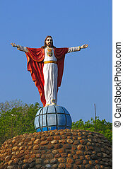 Jesus - Statue of Jesus with arms extended at a loal church...