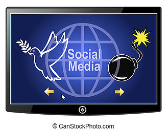 Social Media Peace or War - There are positive and negative...