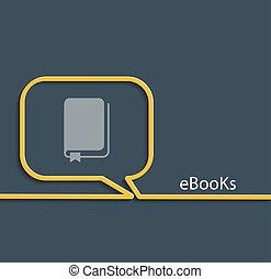 Ebook, vector illustration. - Vector Illustration of...
