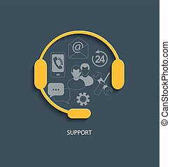 Concept for customer support service.