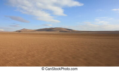 Bolivian altiplano - Panoramic view of bolivian altiplano...