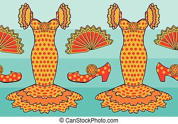 Flamenco spanish style, vector